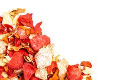 Crispy Root Vegetable chips - stock photo