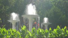 Herculane spa redort fountain  located in  western Romania 4K 2160p UHD foota Stock Footage