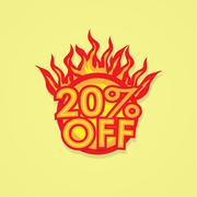 Fiery discount Stock Illustration