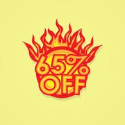 Fiery discount - stock illustration