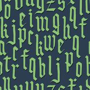 Gothic foun. Seamless vector wallpaper Stock Illustration