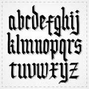 Gothic alphabet font. Vector Stock Illustration