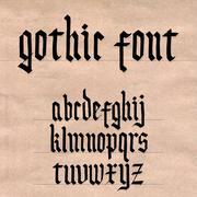 Gothic font Stock Illustration
