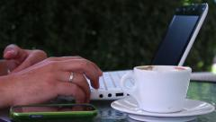 Man Reading Something on Laptop or Checking Stuff Stock Footage