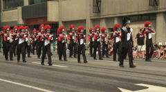 Marching Show Band on Parade Stock Footage