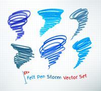 Hurricane symbols Stock Illustration