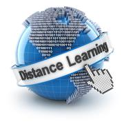 Distance learning - stock illustration