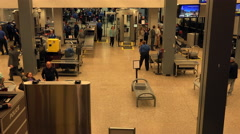 Salt Lake City TSA airport check man belt fast 4K 001 - stock footage