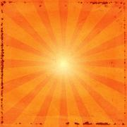 Grunge sunburst - stock photo