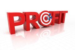 Targeting at profit - stock illustration