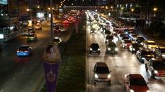 Bangkok traffic Stock Footage