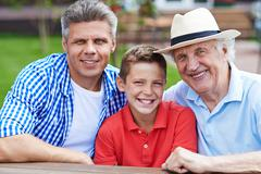 Men of one family - stock photo