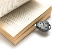 car key with book - stock photo