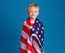 Patriot of USA - stock photo