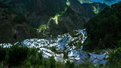 Time lapse of rice terraces fields in Ifugao province mountains. Philippines Stock Footage