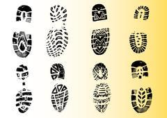 Shoeprints - - stock illustration