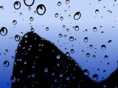 Water Droplets Rising - Vector illustration Stock Illustration