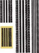 Repeating tyre Track Stock Illustration