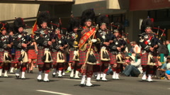 Scottish Highland Marching Band Stock Footage
