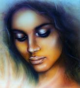 Sea  woman Stock Illustration