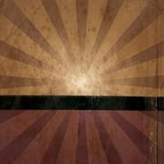 Grunge sunburst - stock photo