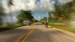 Caribbean Island Road Trip 04 Stock Footage
