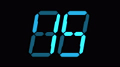 4k Digital counter,electronic timer,blue figure from one to ten on screen. Stock Footage