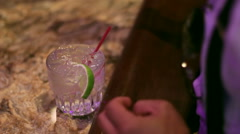 Cocktail On Bar and Tip Stock Footage