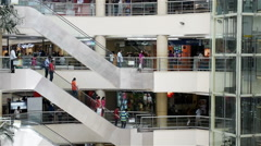 Upmarket shopping mall, Chennai, India - stock footage