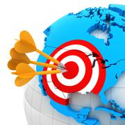 USA map with target - stock illustration