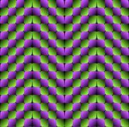 Bulge Rhombuses Optical illusion Vector Seamless Pattern Stock Illustration