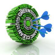Green target Stock Illustration