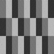 Op Art Design, Zig Zag Checkered Vector Seamless Pattern Stock Illustration