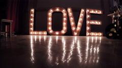 Inscription Burning Love Stock Footage