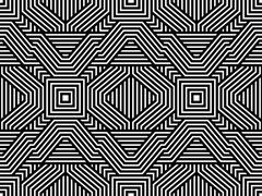 Abstract Striped Vector Seamless Pattern Stock Illustration