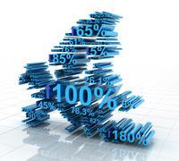 Europe statistics - stock illustration