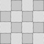 Abstract Striped Squares Geometric Vector Seamless Pattern - stock illustration