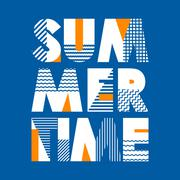 Summer Time T-shirt Typography, Vector Illustration - stock illustration