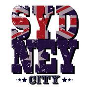 Sydney City T-shirt Typography, Vector Illustration - stock illustration