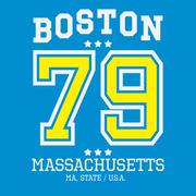 Boston Sport Team T-shirt Typography, Vector Illustration Stock Illustration