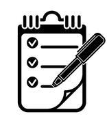 To Do List Clipboard Pen Icon, Vector Illustration Stock Illustration