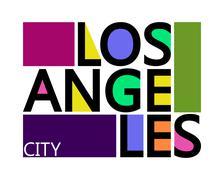 Los Angeles City, T-shirt Typography Graphics, Vector Illustration Stock Illustration