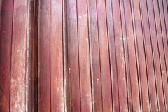 maroon iron door - stock photo