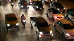 Night Traffic Bangkok Stock Footage