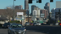 Denver streets 9 - stock footage