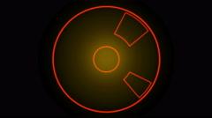 4k rotation tech GPS background,software panel & Radar scan. Stock Footage