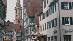 German village with carcass houses - stock footage