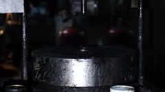 Working on punching machine manufactured parts. Stock Footage
