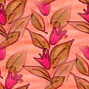 Stock Illustration of seamless  texture pink bells watercolor flowers  wallpaper