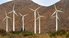 Massive Windmill Farm in California - stock footage